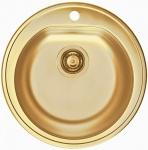 Alveus Spüle Einbauspüle Ø 510 mm Rundbecken Küchenspüle Gold Spülbecken*1070808