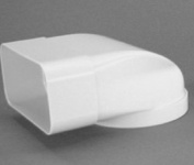 Abluft Flachkanal 150 x 70 mm Umlenkstück 90° zu Ø 125 mm Adapter Lüftung *50104