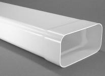 Abluftsystem Soft 125 Flachkanal 150 x70 mm mit Muffe Lüftungsrohr 100 cm *50101