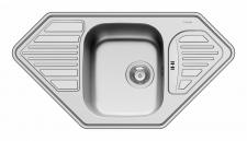 Küchen Eckspüle Einbauspüle 950 x 500 mm Edelstahl Abwasch Spülbecken *108771312