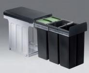 Wesco Bio Trio 3 x 10 L Küchen Abfall Mülleimer Biodeckel Bodenmontage *515653