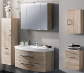 5 Teile Badmöbel LED Spiegelschrank 90 cm Waschplatz 100 cm Badset Möbel *5010