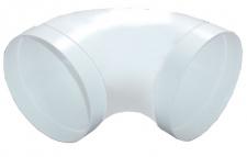 Rundrohr Abluftbogen Ø 150 mm gestreckt 90° Lüftung Muffe beidseitig *528578