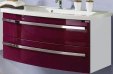Design Waschplatz 112 cm montiert 2 Schubladen Kosmetikeinsatz SoftClose *42981