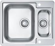 Alveus Edelstahl Spüle 1, 5 Becken 615 x 500 mm Küchen Einbauspüle *Line-max-50