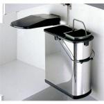 Wesco ÖKO 45/2 Küchen Bio Abfall-/Mülleimer 1 x 14, 1 x 5 L Mülltrennung *514915