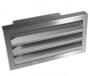 Abluft Mauerkasten 230 x 80 mm Aussengitter Rückstauklappe Flachkanal *529261