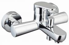 Badewannenarmatur SOLA Eco Klick Wasserhahn Einhebel Einhandmischer Chrom *8921