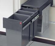 Hailo Profi Terzett Bio Abfall-/Mülleimer Küche 1 x 15, 2 x 7 Vollauszug *43656