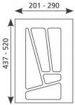 Schubladen-/Besteckeinsatz 201 - 290 mm Besteckkasten 30 cm Schublade *Multi-30