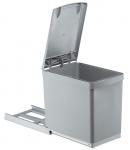 Wesco Küchen Abfall Mülleimer 1 x 16 Liter Vollauszug ab 30 cm Schrank *515776