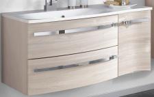 Badezimmer Waschtisch 110 x 52cm Waschplatz Waschbecken Kosmetikeinsatz *WP-Harm