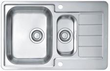 Alveus Küchen Einbauspüle 790 x 500 mm Camping 1, 5 Becken Spüle *Line-max-70