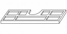 Kosmetikeinsatz Waschplatz Jolie Kunststoff silbergrau 70 und 100 cm Einlage