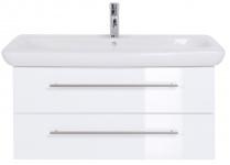 Waschplatz 100 cm Waschtisch Keramag Becken SoftClose Auszug Vormontiert *It100