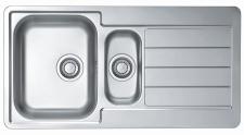 Alveus Einbau Küchenspüle 980 x 500 mm Edelstahl Abwasch Spülbecken *Line-10