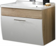 Waschplatz 70 cm Mineralguss Waschbecken Waschtisch Badmöbel Gäste Bad WC *5600