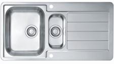 Alveus Edelstahl Einbau Küchenspüle 980 x 500 mm Abwasch Spülbecken *Line-max-10