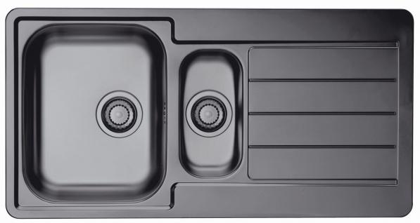 Alveus Küchen Einbauspüle Line 10 Becken Anthrazit Gold Kupferfarbig *Mon-Lin-10