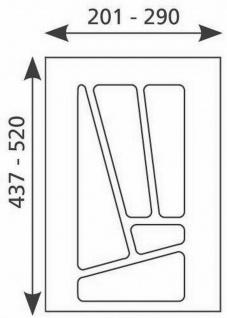 Besteckeinsatz 30 cm Schublade Besteckkasten Schubaldeneinsatz kürzbar *Multi-30