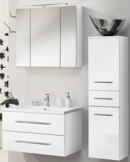 Badmöbelset RAMERO Spiegelschrank Waschplatz Hochschrank Gäste Badset *Ram-Wei