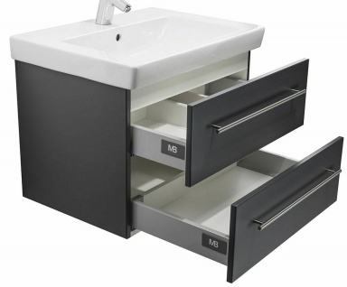 Gäste Bad WC Waschplatz 65 cm Villeroy & Boch Becken Waschtisch hängend *SUB65