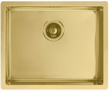 Alveus Küchen Einbauspüle 450 x 550 mm Anthrazit, Gold Abwaschbecken *Mon-Qua-50