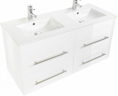 Doppelwaschtisch mit Unterschrank 122 cm Doppelwaschbecken Argos Badezimmermöbel