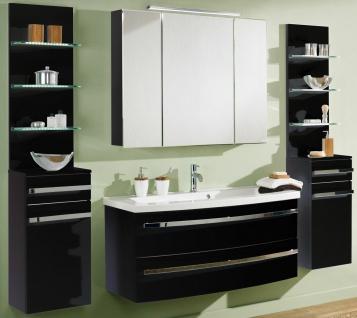 Badmöbel-Set Waschtisch 112 cm LED Spiegelschrank Badset 6 Teile Scanbad *6001 - Vorschau 3