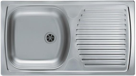 Küchenspüle Leinenstruktur oder Edelstahl 78 cm Camping Einbauspüle *Basic 170