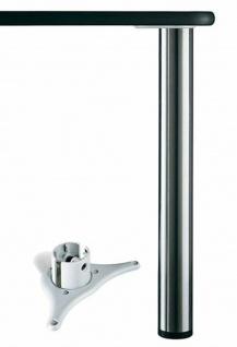 Tischbein Metall 71 cm Tischfuß Möbelbein höhenverstellbar max.150 kg *Alto71