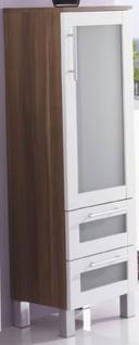 Hochschrank ELAN Badschrank 35 x 117 cm Badezimmer Möbel 2 Schubladen *MS-Elan