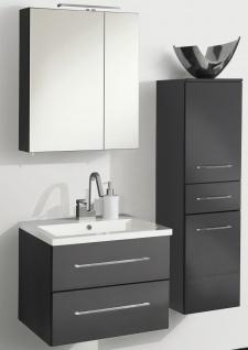 Badset Waschplatz 60 cm Spiegelschrank 5 W Badmöbel 4200 K Badezimmer *Ram-60-A