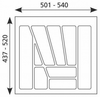 Besteckeinsatz 60 cm Schublade Besteckkasten kürzbar Schubladeneinsatz *Multi-60