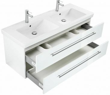 Doppelwaschtisch mit Unterschrank 130 cm Villeroy & Boch Keramikbecken *SUB130