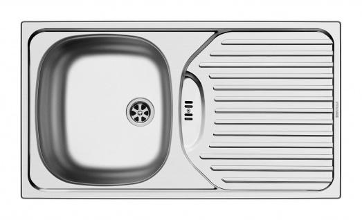 Küchen Einbauspüle 780 x 435 mm Edelstahl 45 cm Unterschrank Ablauffläche *ET78