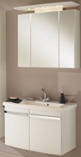 Waschplatz 82 cm LED Spiegelschrank Waschbecken Badmöbel Waschtisch *Bingo-80