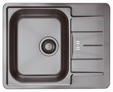 Alveus Einbau Küchenspüle 615 x 500 mm Gold Kupfer Line 60 Anthrazit *Mon-Lin-60