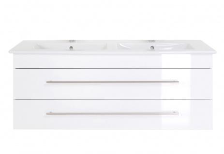 Doppel Waschplatz Venticello 130 cm Villeroy & Boch Becken SoftClose *VEN130-DOP