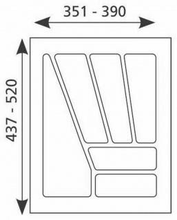 Besteckeinsatz 45 cm Schublade Besteckkasten kürzbar Schubladeneinsatz *Multi-45