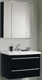 Waschtisch 82 cm SoftClose Waschplatz mit Becken LED Spiegelschrank *2012-Jol-2T