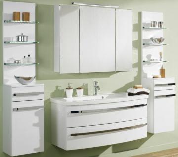 Badmöbel-Set Waschtisch 112 cm LED Spiegelschrank Badset 6 Teile Scanbad *6001 - Vorschau 2