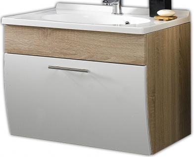 Waschplatz 70 cm Mineralguss Becken Waschtisch Badmöbel Gäste Bad WC *5600