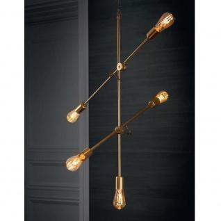 Licht-Trend Retro Hängeleuchte Sticks 5-flg. Goldfarben