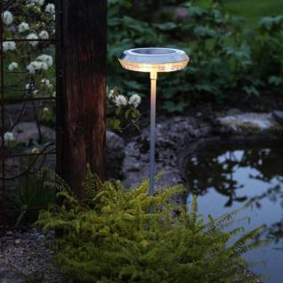 Premium LED Solarleuchte in Edelstahl 52cm Solar Gartenlampe Gartenleuchte