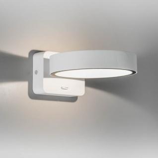 Licht-Trend Scoop Wandleuchte mit LED-Ring 460 Lumen Weiß