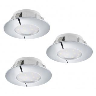 Eglo 95808 Pineda LED Einbaustrahler 3er-Set 3 x 500lm Chrom