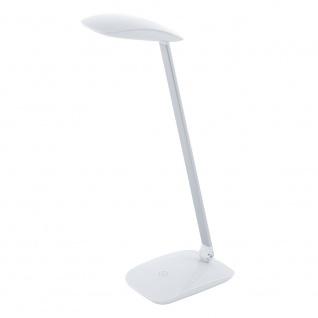 Eglo 95695 Cajero LED Tischleuchte mit Touch und USB 550lm Weiß