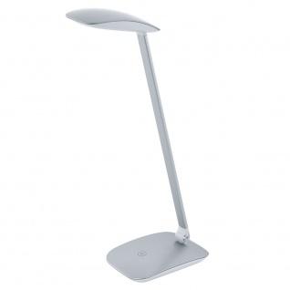 Eglo 95694 Cajero LED Tischleuchte mit Touch und USB 550lm Silber