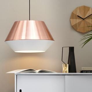 s.LUCE pro LED Hängeleuchte SkaDa Ø 50cm in Kupfer Weiss Pendellampe Hängelampe